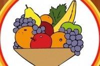 Libretto della frutta da colorare