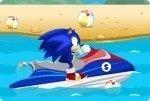Sonic sulla moto d'acqua